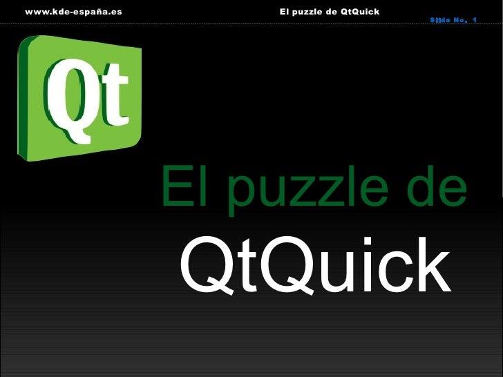 El puzzle de QtQuick