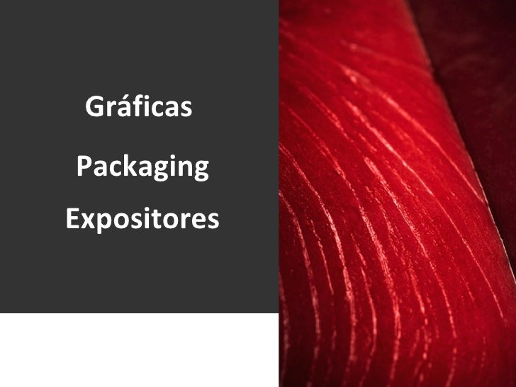 Packaging Gráficas  Expositores