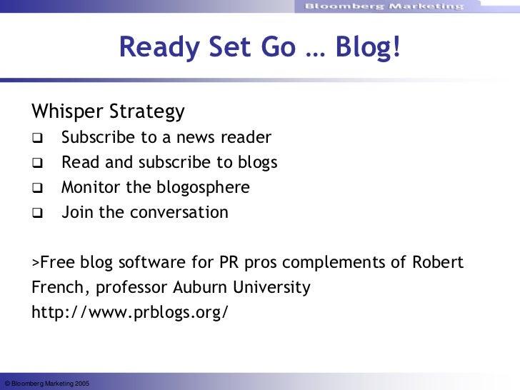 Marketing Beyond The Blog Buzz