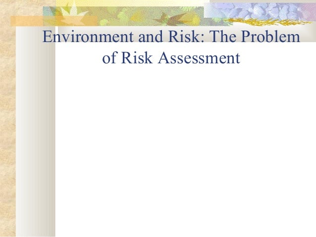Environment and Risk: The Problem of Risk Assessment