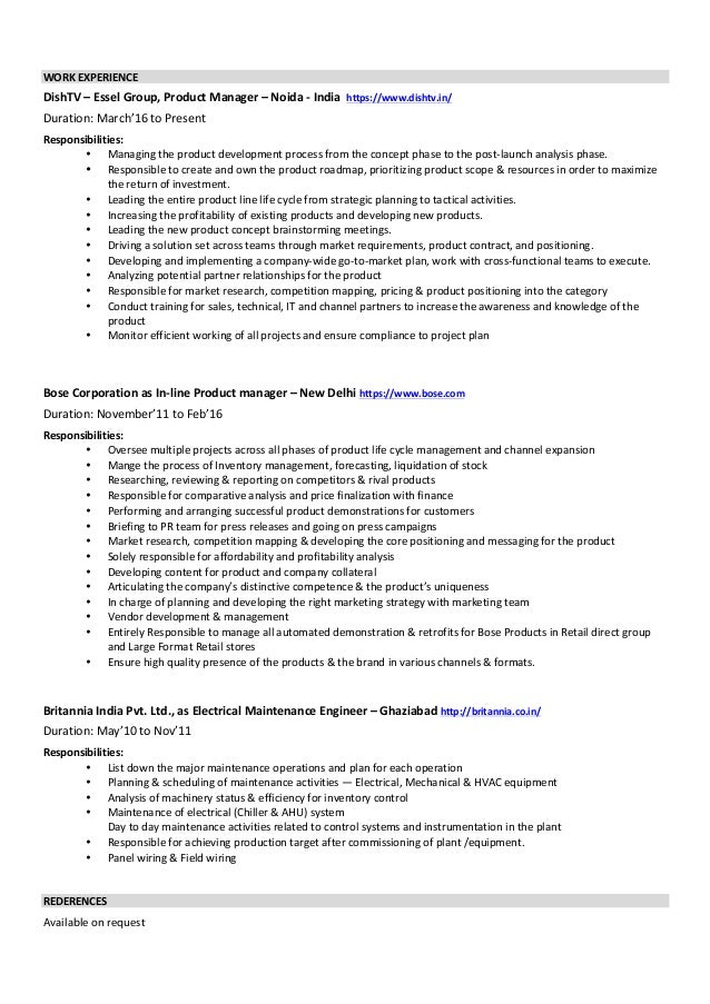 Akash Resume Product Manager