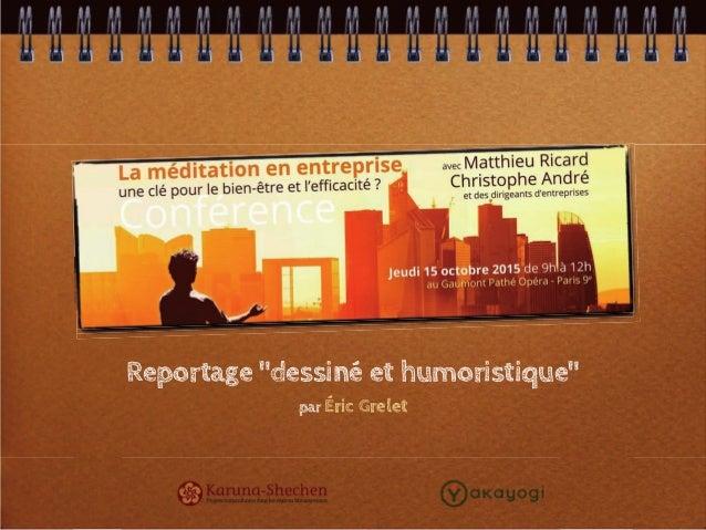 """Reportage """"dessiné et humoristique"""" par Éric Grelet"""