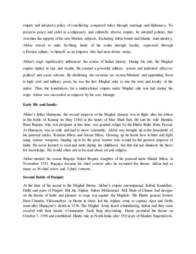 Essay on akbar the great