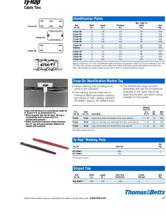 0fc4b6e48fee TY523MX - THOMAS & BETTS - Cable Tie, Ty Rap® Self Lock, Nylon  AKBAR…