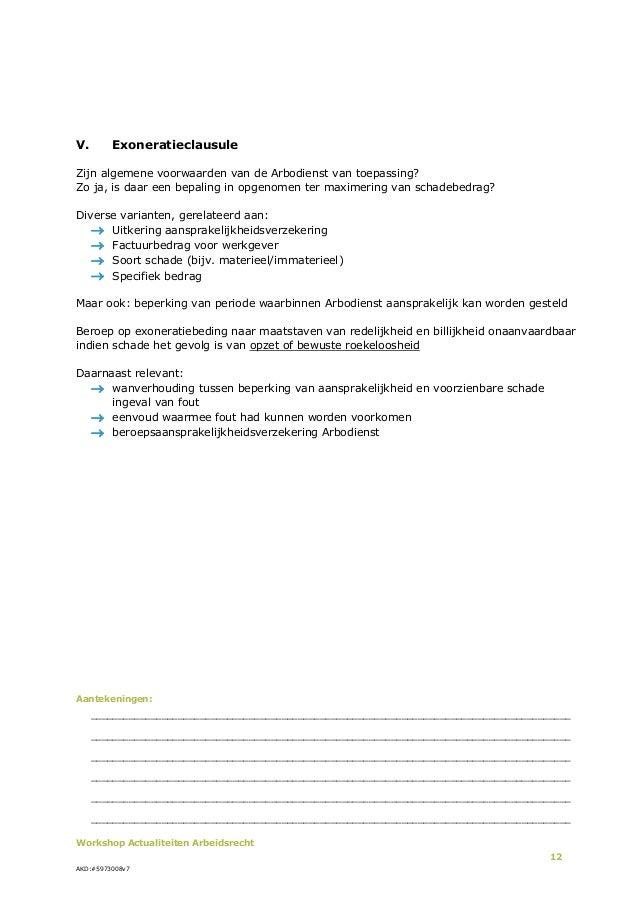 Actualiteiten voor Arbeidsrecht 2013