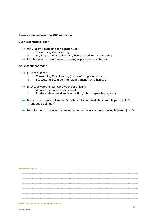 voorbeeldbrief stopzetten loondoorbetaling Actualiteiten voor Arbeidsrecht 2013 voorbeeldbrief stopzetten loondoorbetaling