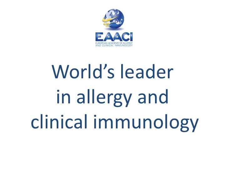 World's leader  in allergy and  clinical immunology
