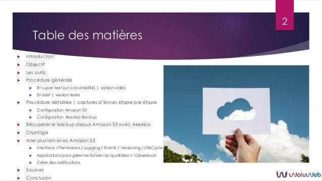 Joomla : Akeeba Backup et Amazon S3 Slide 2