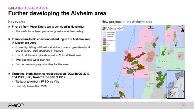 11 New projects in the Alvheim area  First oil from Viper-Kobra wells achieved in November • The wells have been performi...