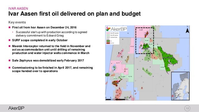 12  First oil from Ivar Aasen on December 24, 2016 • Successful start up with production according to agreed delivery com...
