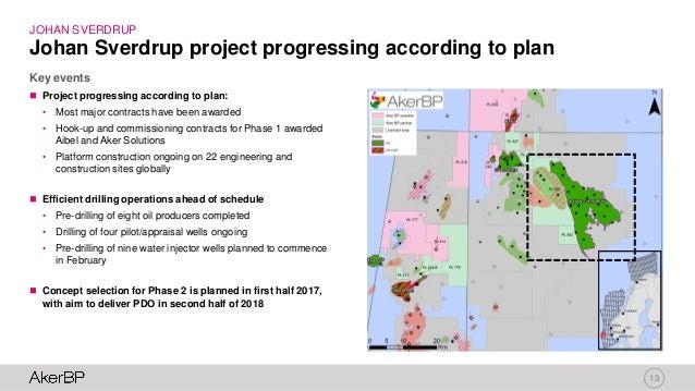 13 JOHAN SVERDRUP Key events Johan Sverdrup project progressing according to plan  Project progressing according to plan:...