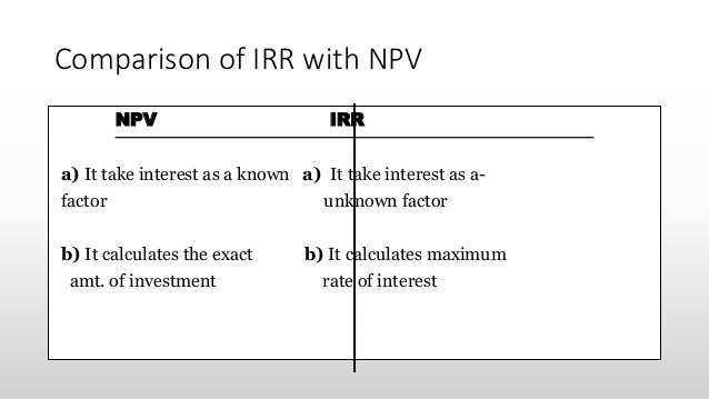 Npv And Irr Calculator Kubreforic