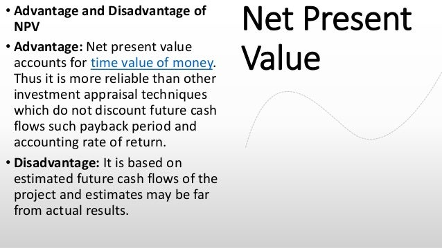drawbacks of npv