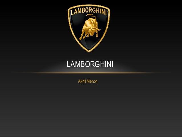 LAMBORGHINI Akhil Menon