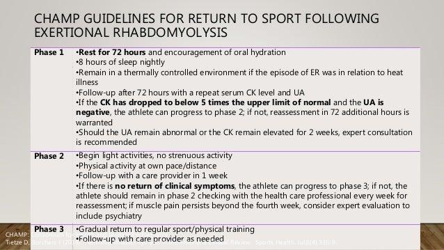 nice guidelines rhabdomyolysis treatment protocol