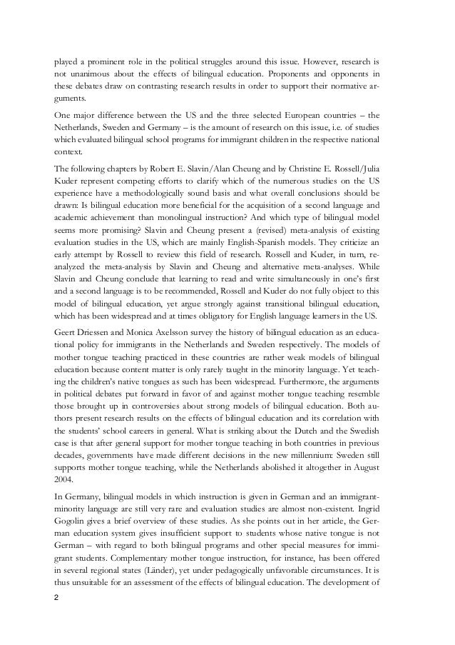 an overview of the disadvantages of the bilingual education programs in english schools Some bilingual programs are designed to develop others use the native language to facilitate the acquisition of english the history of bilingual education is one characterized by controversy and wavering support for the disadvantages of bilingual education programs outnumber the.
