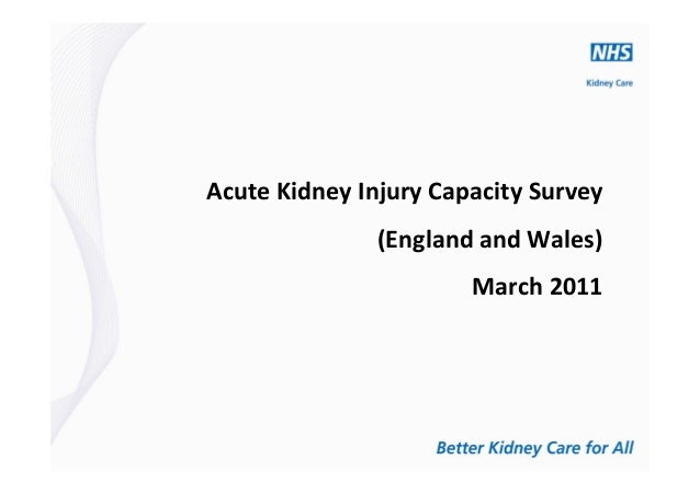 Acute Kidney Injury Capacity Survey (England and Wales) March 2011
