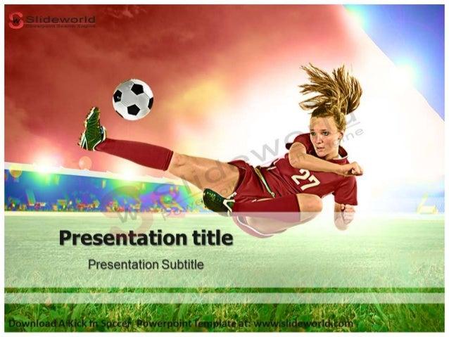 A Kick In Soccer Powerpoint Template Slideworld