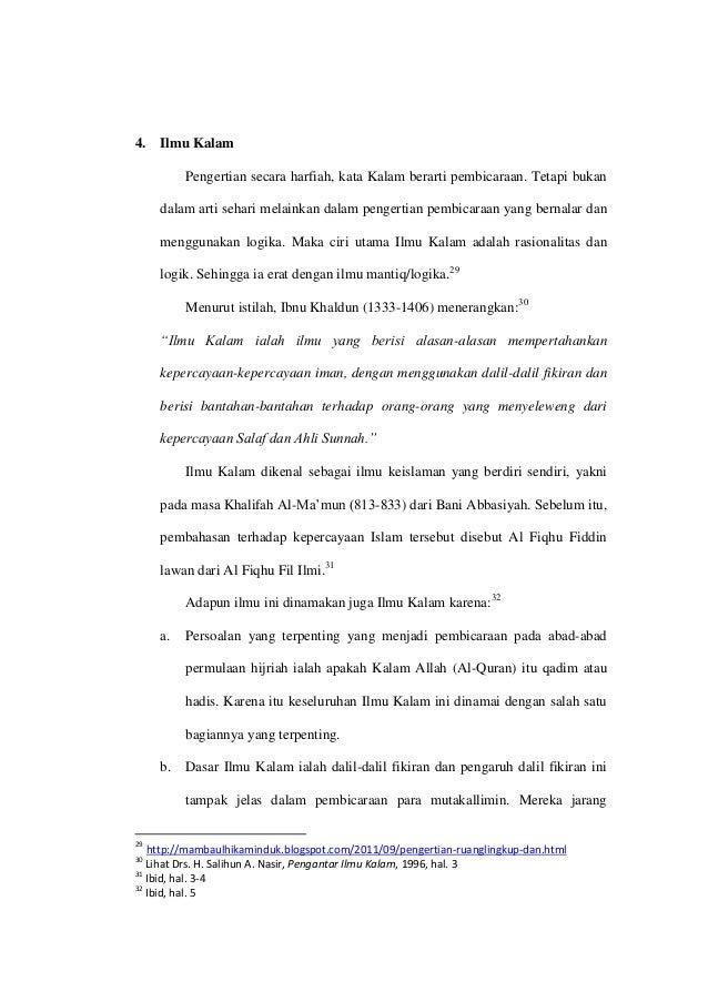 pengertian aqidah menurut ibnu khaldun biography