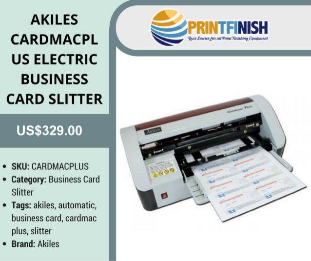 buy akiles cardmac plus electric business card slitter at printfinishcom - Business Card Slitter
