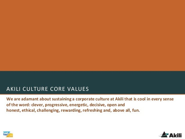 AKILI CULTURE CORE VALUESWe are adamant about sustaining a corporate culture at Akili that is cool in every senseof the wo...