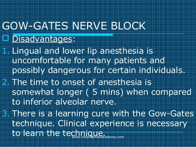 Akinosi & gow gates nerve blocks / prosthodontic courses