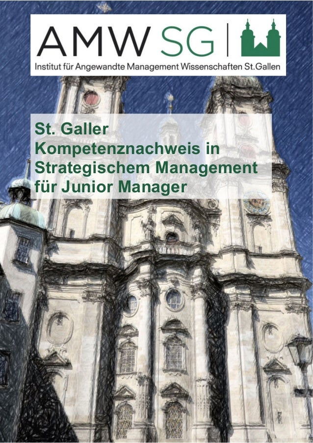 St. Galler  Kompetenznachweis in  Strategischem Management  für Junior Manager