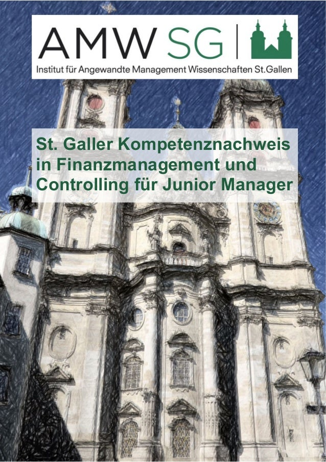 St. Galler Kompetenznachweis  in Finanzmanagement und  Controlling für Junior Manager