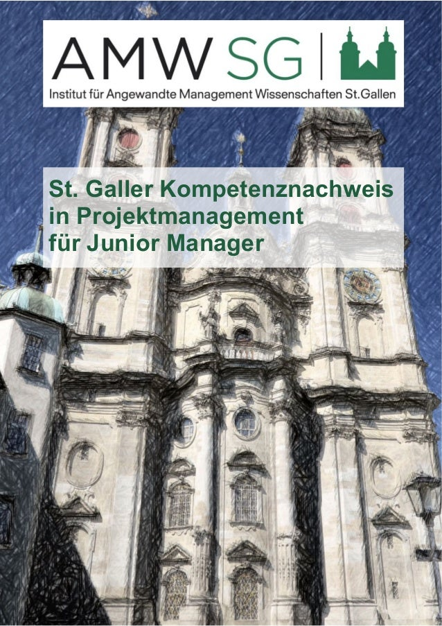 St. Galler Kompetenznachweis  in Projektmanagement  für Junior Manager