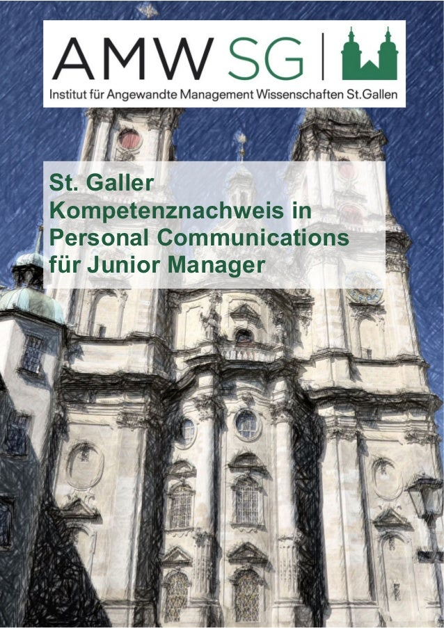 St. Galler  Kompetenznachweis in  Personal Communications  für Junior Manager