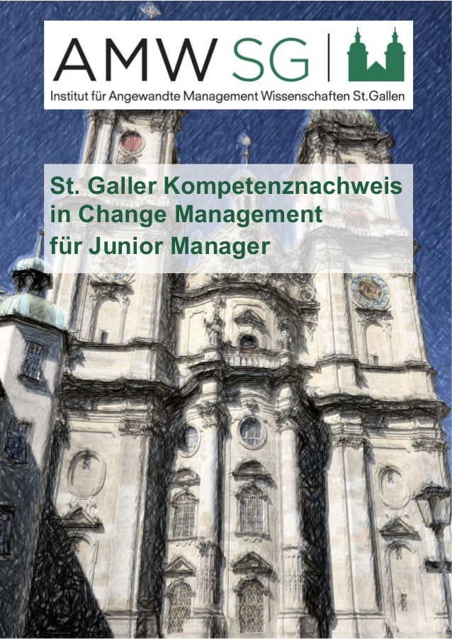St. Galler Kompetenznachweis  in Change Management  für Junior Manager