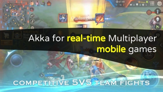 Akka for real-time Multiplayer mobile games