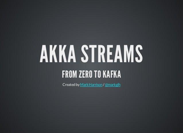 AKKA STREAMS FROM ZERO TO KAFKA Createdby /MarkHarrison @markglh