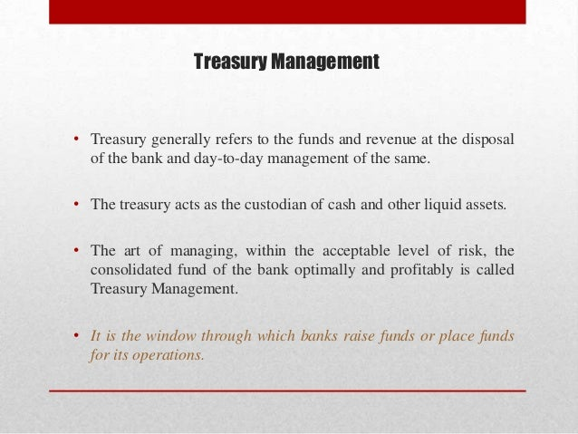 treasury management notes pdf