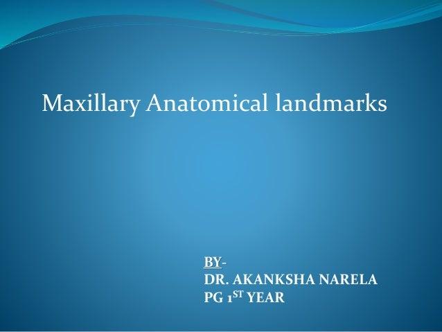 BY- DR. AKANKSHA NARELA PG 1ST YEAR Maxillary Anatomical landmarks