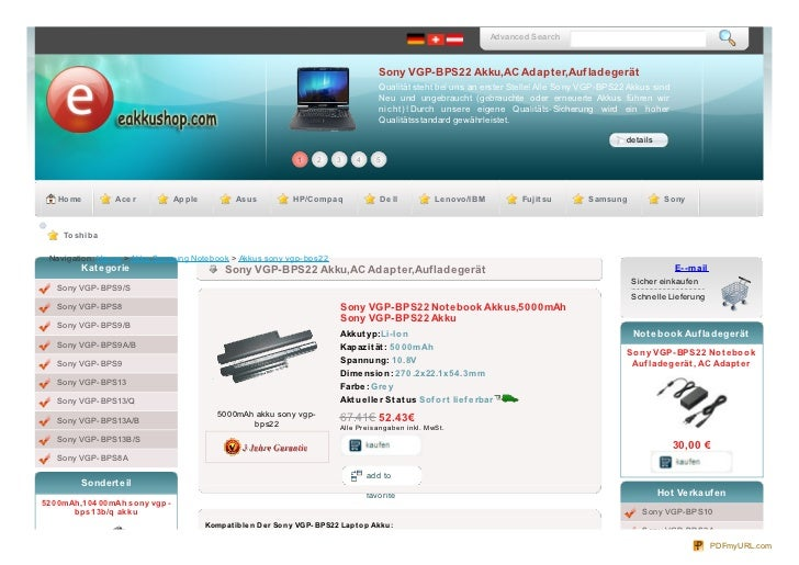 Advanced Search                                                                                              Sony VGP-BPS2...