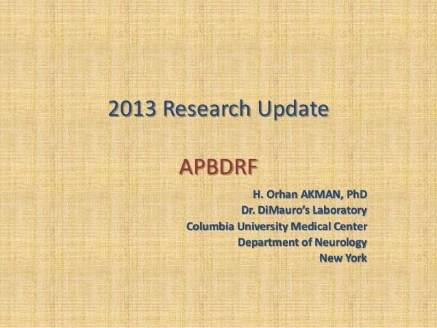 APBDRF Scientific Advisory Board Meeting December 2013