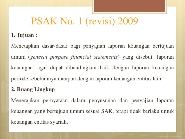 Kdpplk Berdasar Psak No 1 2009 Revisi