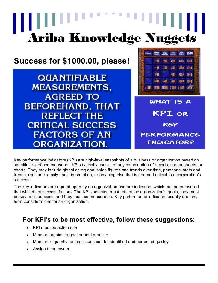 Ariba Knowledge NuggetsSuccess for $1000.00, please!                                                                      ...
