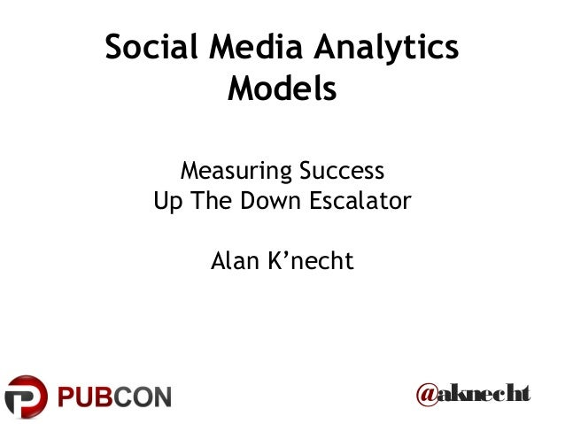 @aknechtSocial Media AnalyticsModelsMeasuring SuccessUp The Down EscalatorAlan K'necht