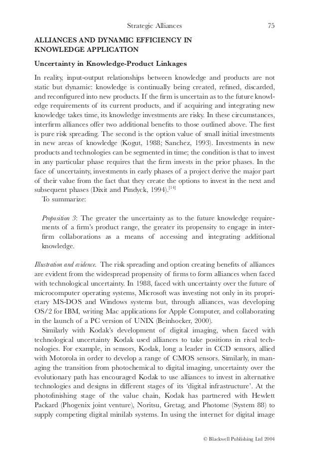 types of strategic alliance pdf