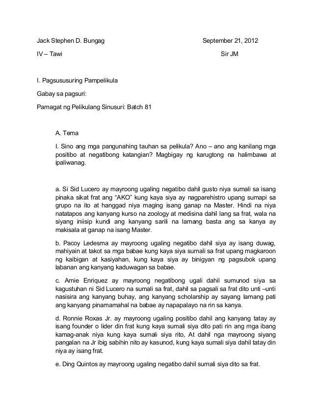 Jack Stephen D. Bungag                                        September 21, 2012IV – Tawi                                 ...