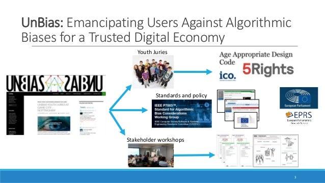 Bias in algorithmic decision-making: Standards, Algorithmic Literacy and Governance Slide 3