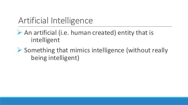 What is AI? Slide 2