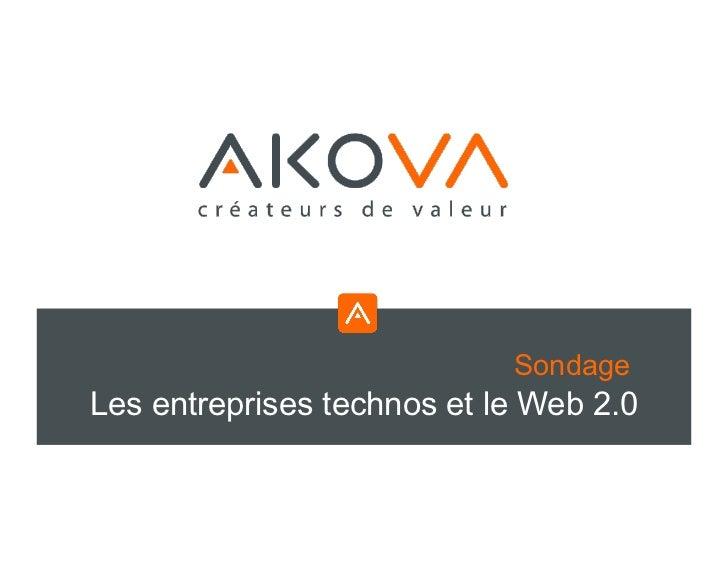SondageLes entreprises technos et le Web 2.0