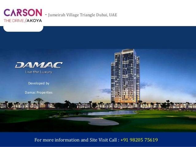 Carson Akoya by Damac / Akoya Drive Dubai - Studio Apartments, 1 BR, …