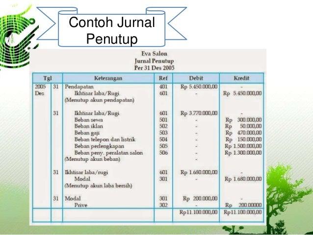 Akuntansi Pengantar 1 Jurnal Penutup Closing Entry Dan Jurnal Pem