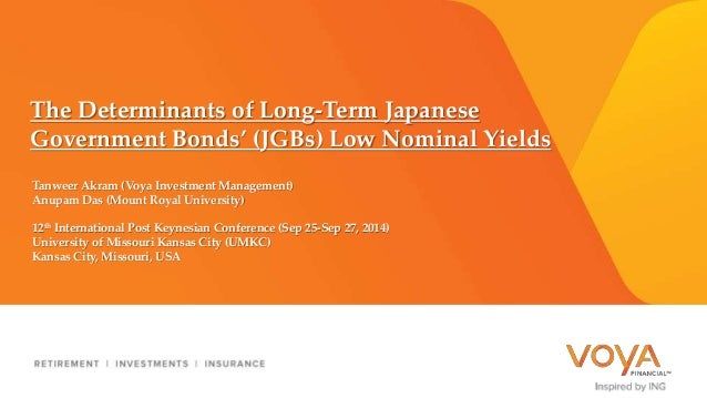 The Determinants of Long-Term Japanese  Government Bonds' (JGBs) Low Nominal Yields  Tanweer Akram (Voya Investment Manage...