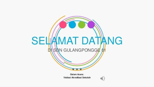 SELAMAT DATANG DI SDN GULANGPONGGE 01 Dalam Acara: Visitasi Akreditasi Sekolah