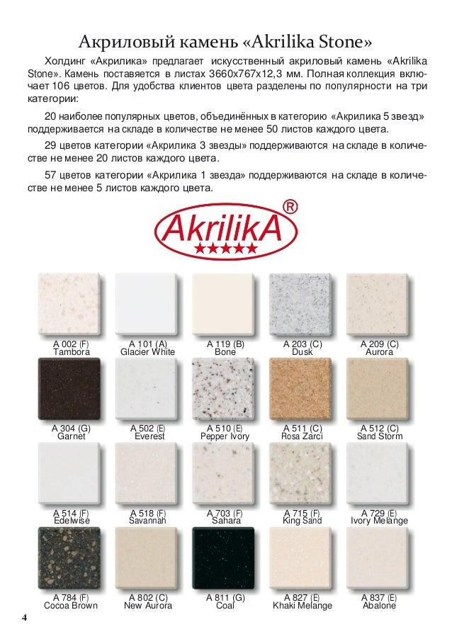 Акриловый камень «Akrilika Stone»       Холдинг «Акрилика» предлагает искусственный акриловый камень «Akrilika    Stone». ...